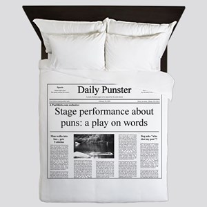 Play on Words Pun Queen Duvet