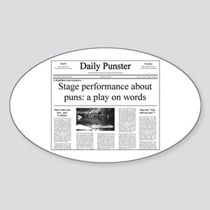 Play on Words Pun Sticker (Oval)