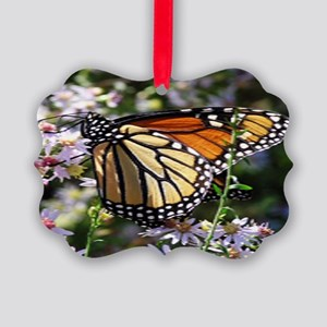 Monarch Butterfly Picture Ornament