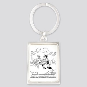 6346_employee_cartoon Portrait Keychain