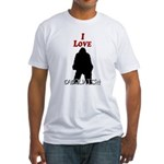 I Love Sasquatch Fitted T-Shirt