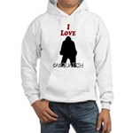 I Love Sasquatch Hooded Sweatshirt
