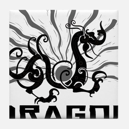 dragon38red Tile Coaster