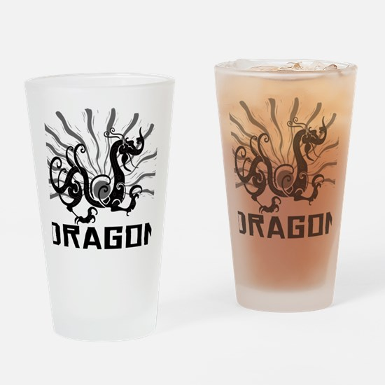 dragon38red Drinking Glass