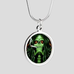 StoneToTheBone Silver Round Necklace