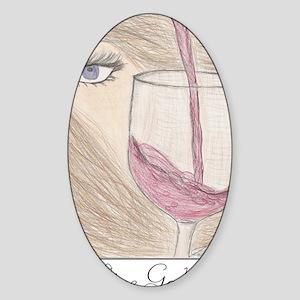 winegoddess2 Sticker (Oval)