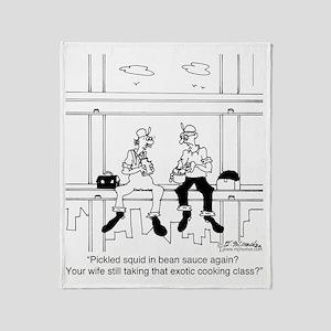 6341_cooking_cartoon Throw Blanket