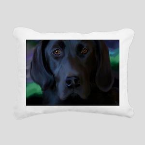 BlackLabLapTop Rectangular Canvas Pillow
