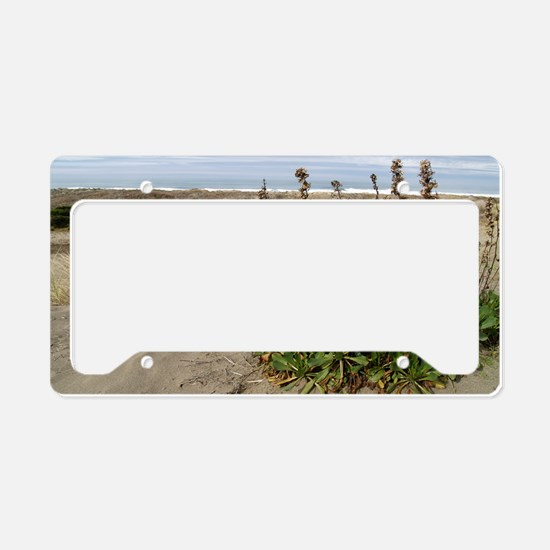beachlandscapelaptopskin License Plate Holder