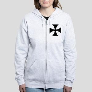 5x5-Cross-Pattee-Heraldry Women's Zip Hoodie
