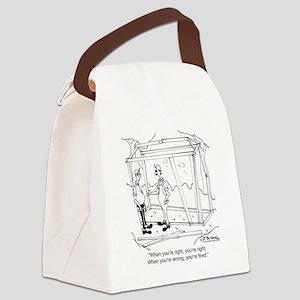 6336_carpenter_cartoon Canvas Lunch Bag