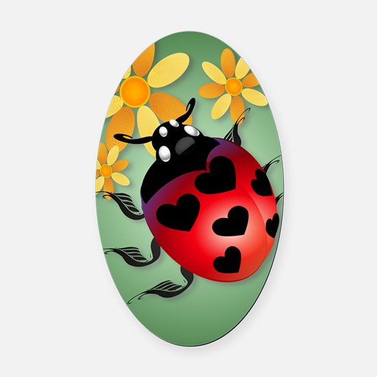 All Heart Ladybug PosterP Oval Car Magnet