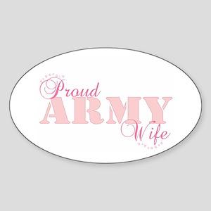 Army Wife Oval Sticker