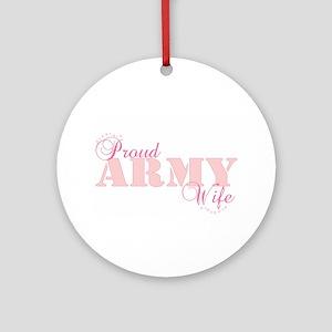 Army Wife Ornament (Round)
