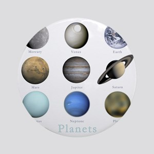 Planets-10x10_apparel Round Ornament