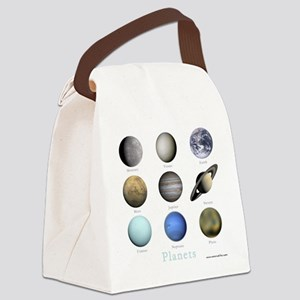 Planets-10x10_apparel Canvas Lunch Bag