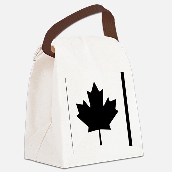 Canadian blue Canvas Lunch Bag