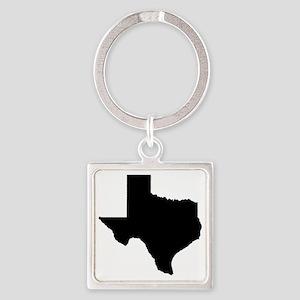 texas map w Square Keychain