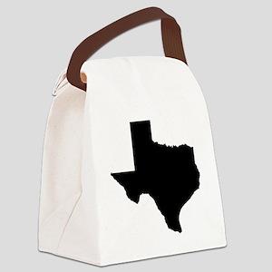texas map w Canvas Lunch Bag