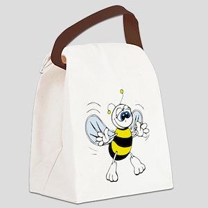 cute_honey_bee Canvas Lunch Bag
