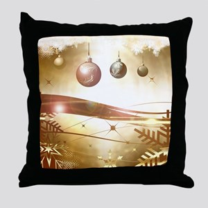 Xmas balls Throw Pillow