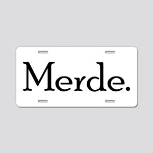 Merde Aluminum License Plate