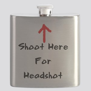 Shoot Here For Headshot Black Flask