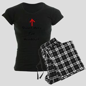 Shoot Here For Headshot Blac Women's Dark Pajamas
