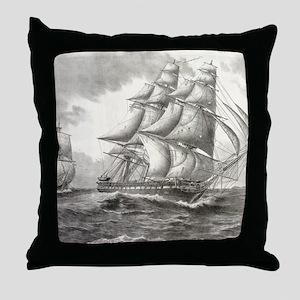 9x12_FramedPanelPrint_USSconstitution Throw Pillow