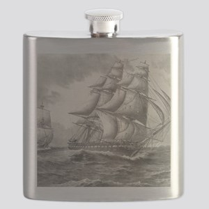 9x12_FramedPanelPrint_USSconstitution Flask