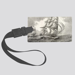 6x4_Postcard_USSconstitution Large Luggage Tag