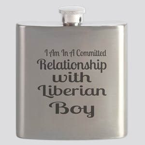 I Am In Relationship With Liberian Boy Flask