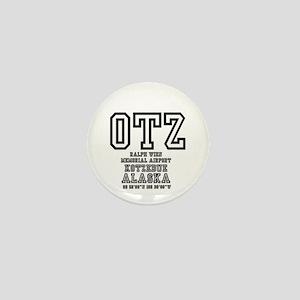 AIRPORT CODES - OTZ - KOTZEBUE, ALASKA Mini Button
