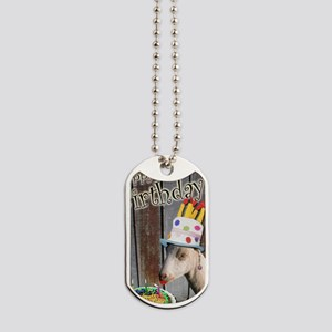 Happy Birthday from Ruby the Sassy Goat Dog Tags
