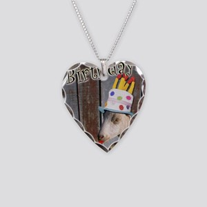 Happy Birthday from Ruby the  Necklace Heart Charm