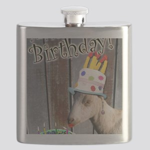 Happy Birthday from Ruby the Sassy Goat Flask