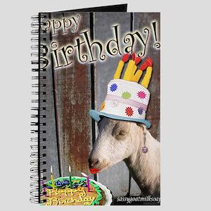 Happy Birthday from Ruby the Sassy Goat Journal