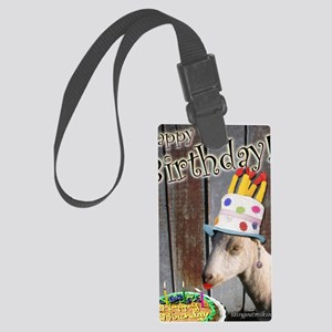 Happy Birthday from Ruby the Sas Large Luggage Tag