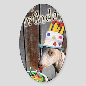 Happy Birthday from Ruby the Sassy  Sticker (Oval)