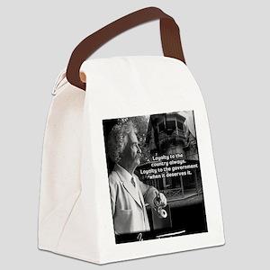 TwainPrint Canvas Lunch Bag