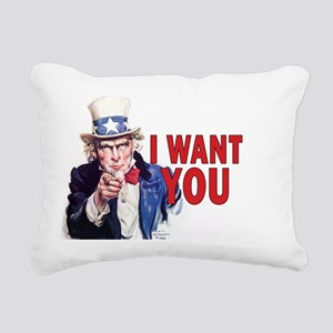 5x3oval_sticker_i_want_y Rectangular Canvas Pillow