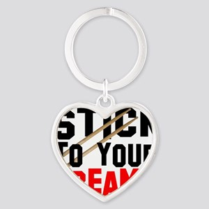 stick to dreams Heart Keychain