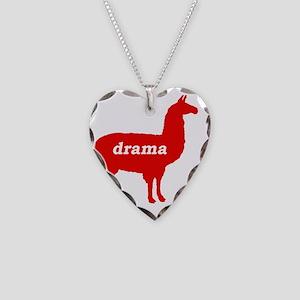 drama llama Necklace Heart Charm