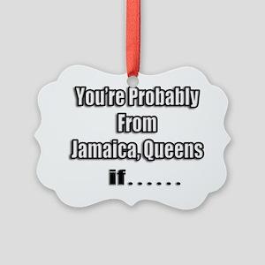 jamaica shirts front black Picture Ornament