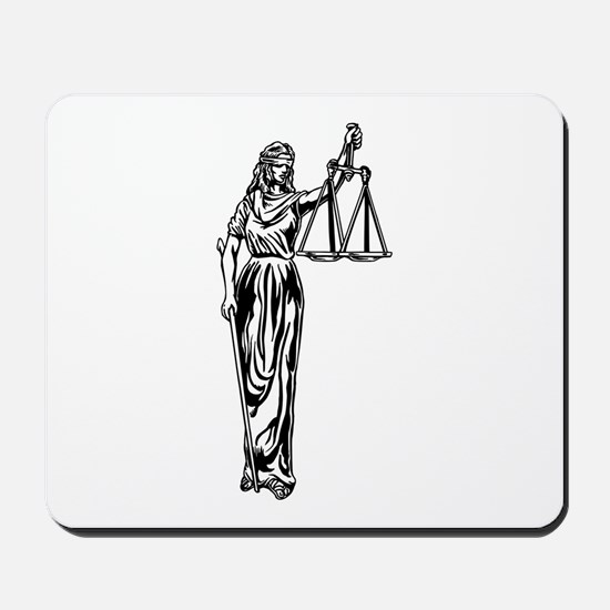 Blind Justice Mousepad