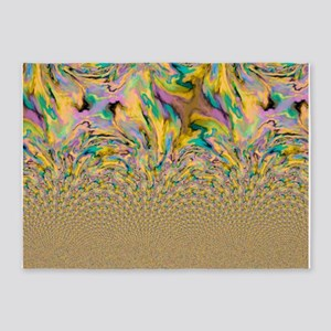 crazy effects 05 yellow 5'x7'Area Rug
