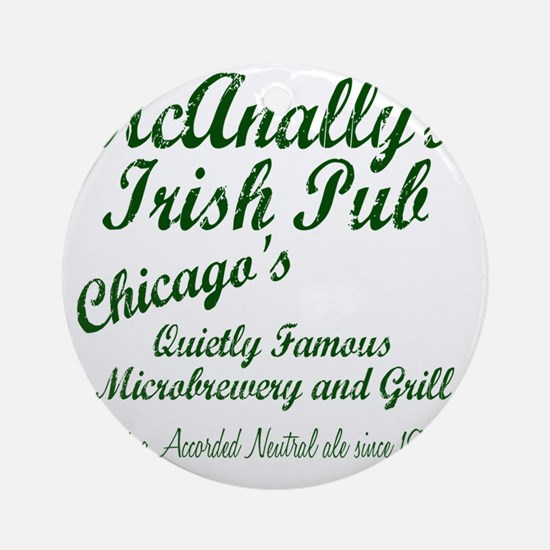 McAnally Pint Shirt Round Ornament