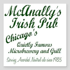 "McAnally Pint Shirt Square Car Magnet 3"" x 3"""