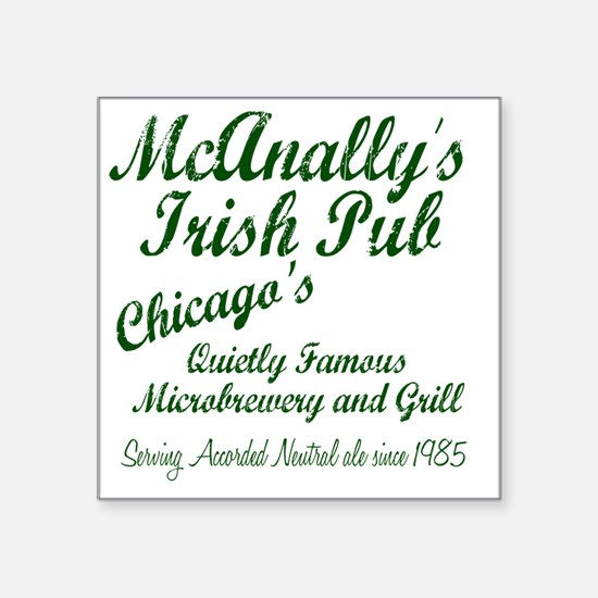 "McAnally Pint Shirt Square Sticker 3"" x 3"""