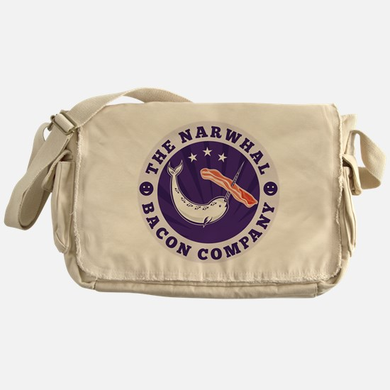 the narwhal whale bacon company Messenger Bag
